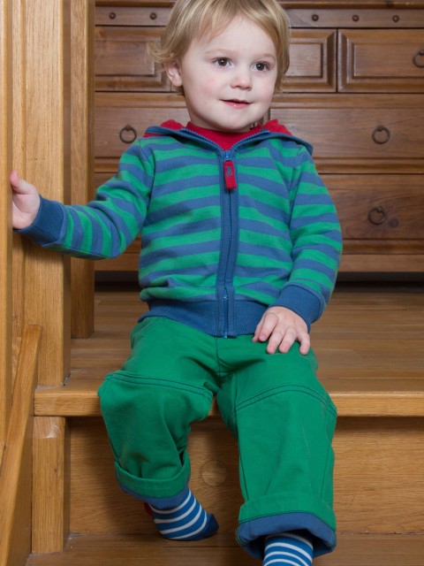Stripy zip hoody for toddlers