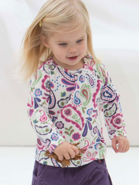 Toddler Girls' Paisley Top