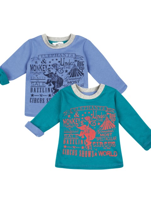 Boys' reversible top - both sides